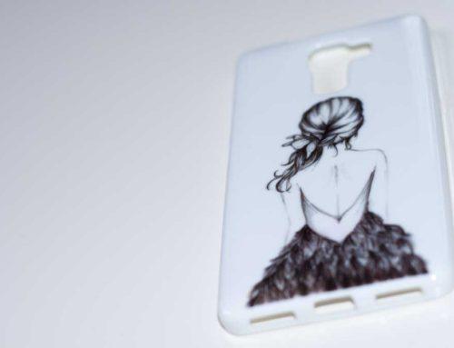 Silikon Schutz-Hülle Huawei Honor 7: Mädchen Kleid