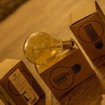 3x CROWN - Edison Glühbirne E27