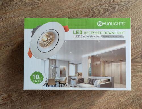 YUNLIGHTS 10 X 10W GU10 Aluminium LED Spots