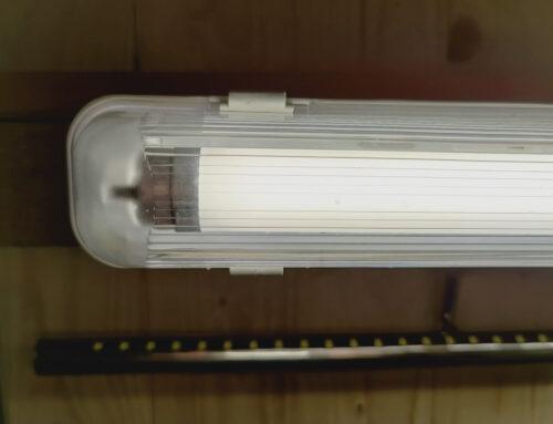 proventa Feuchtraumleuchte mit LED-Röhre